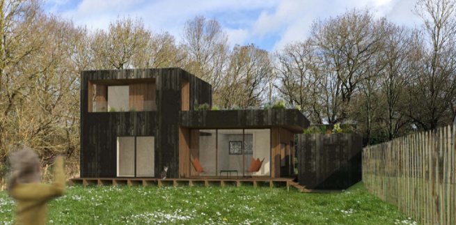 Maison passive en bois Pop-up House