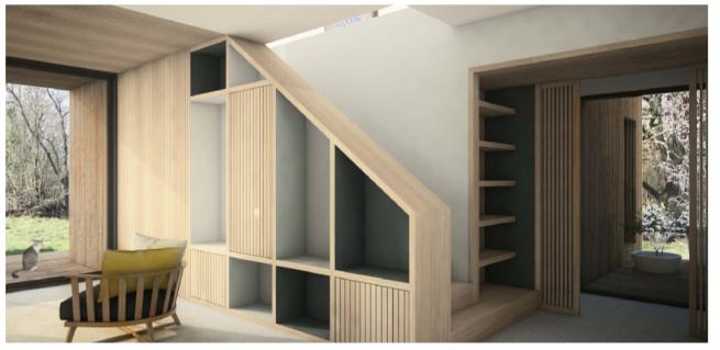 Maison passive en bois Pop-up House