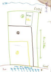 plan de bornage avec fosses