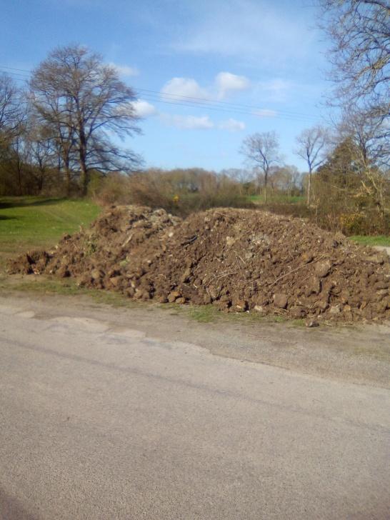 Tas de terre de chez nous en plein milieu d'un coin à picnic 😪