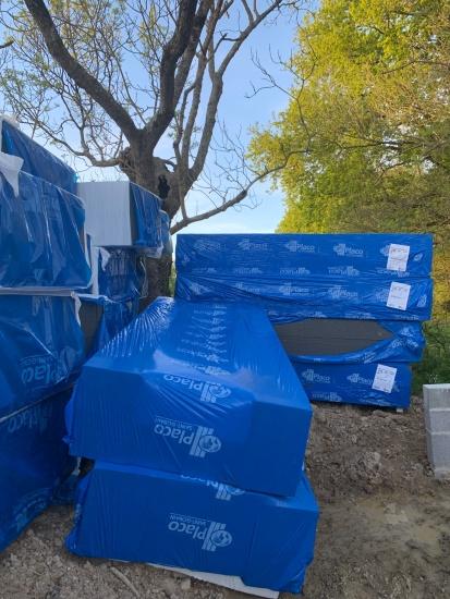 17 avril : livraison matériel popup house - polystyrène